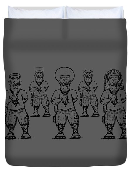 Iuic Soldier 1 W/outline Duvet Cover