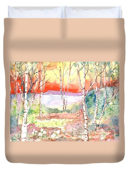 Duvet Cover featuring the painting Ivan's Eve by Renate Nadi Wesley
