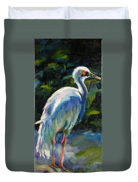 Duvet Cover featuring the painting I've Got My Eye On You by Chris Brandley