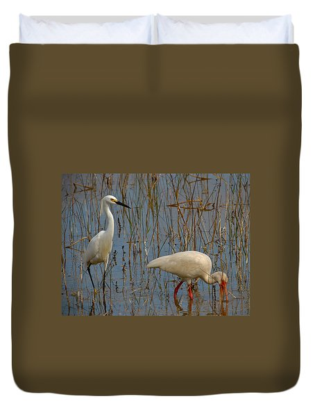 I've Got Your Back-2 Duvet Cover by Kathleen Scanlan