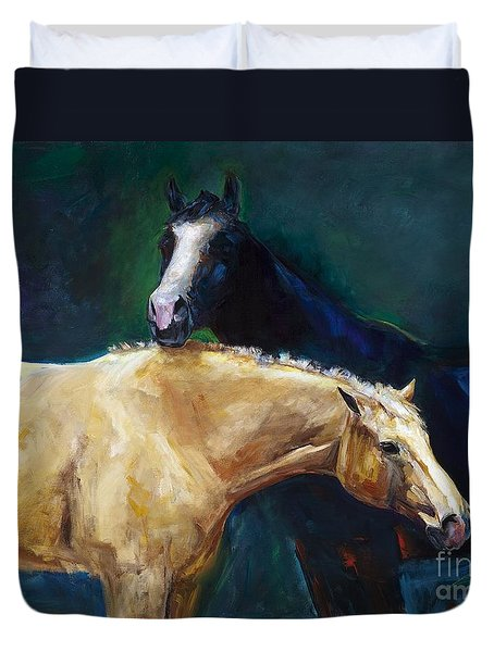 I've Got Your Back Duvet Cover by Frances Marino