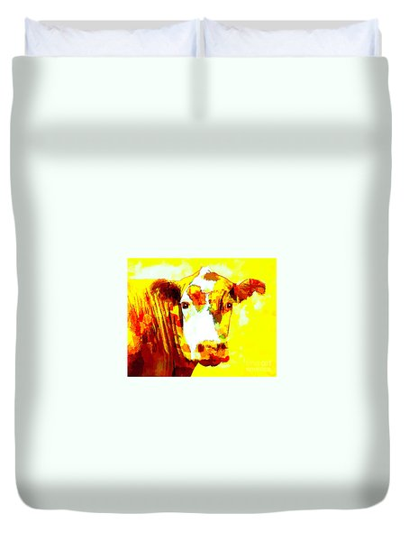 Yellow Cow Duvet Cover