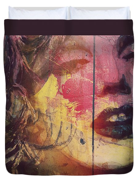 Duvet Cover featuring the painting I've Seen That Movie Too by Paul Lovering