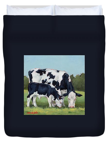 Ivory And Calf Mini Painting  Duvet Cover