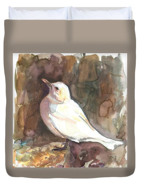 Ivory Gull Duvet Cover