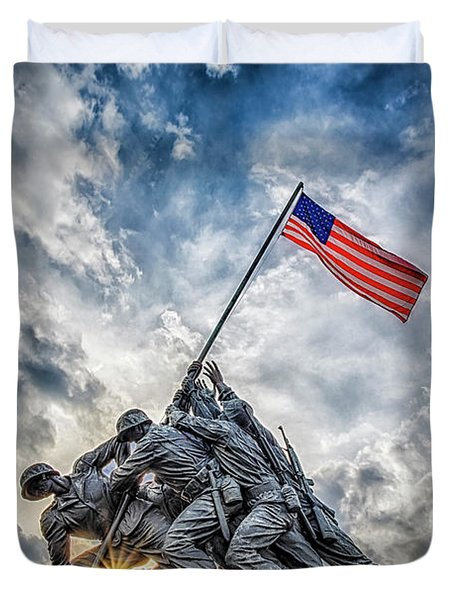 Iwo Jima Memorial Duvet Cover