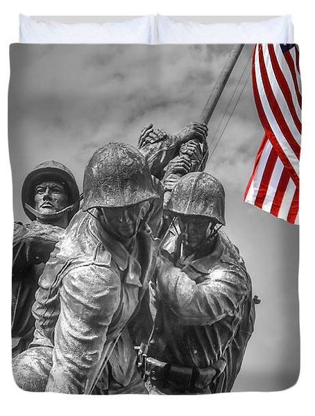 Iwo Jima Duvet Cover