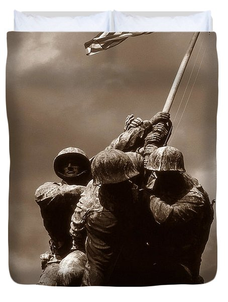 Iwo Jima War Memorial Washington Duvet Cover