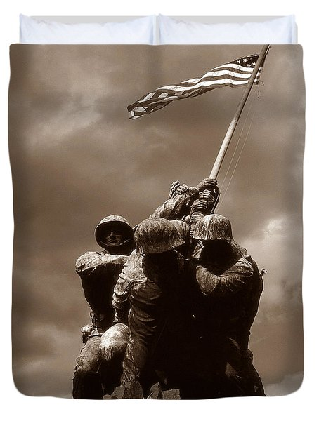 Iwo Jima War Memorial Washington Duvet Cover