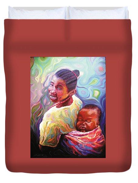 Iyaniwura  Duvet Cover by Bankole Abe