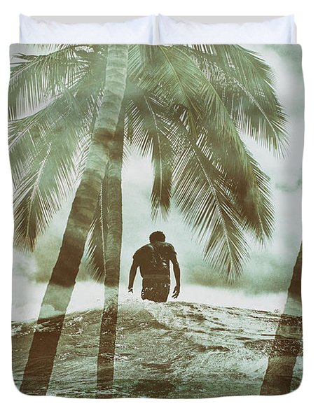 Izzy Jive And Palms Duvet Cover