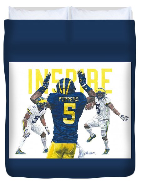 Jabrill Peppers Duvet Cover