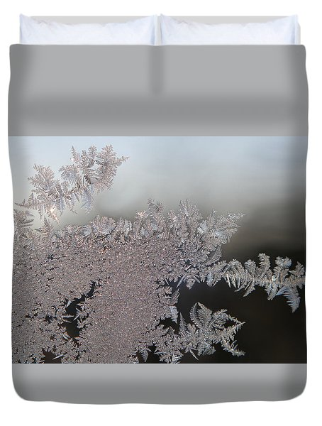 Duvet Cover featuring the photograph Jack Frost by Living Color Photography Lorraine Lynch