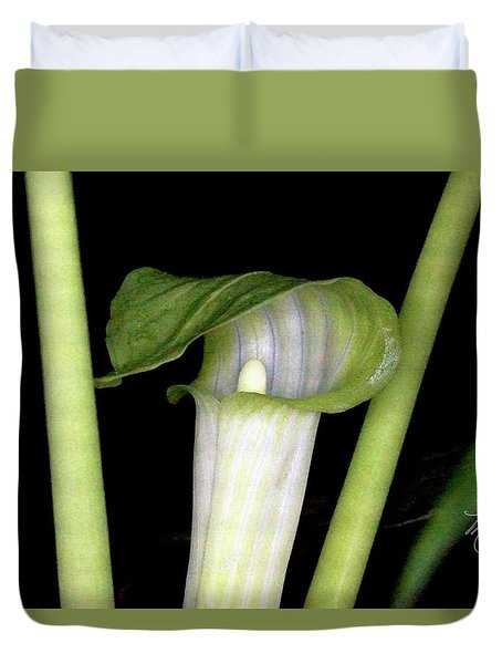 Duvet Cover featuring the photograph Jack In The Pulpit by Meta Gatschenberger