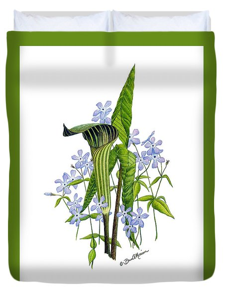 Jack-in-the-pulpit With Wild Sweet Williams Duvet Cover