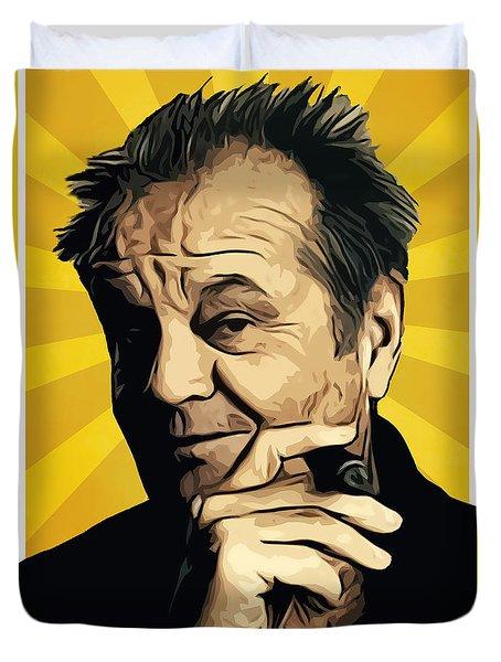Jack Nicholson 3 Duvet Cover by Semih Yurdabak