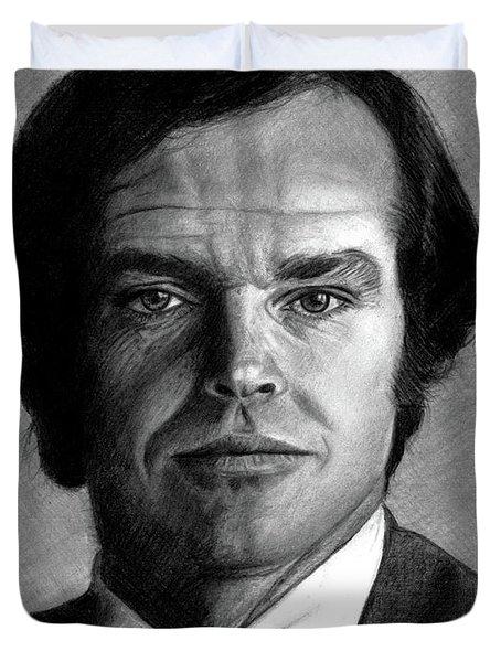 Jack Nicholson Portrait Duvet Cover