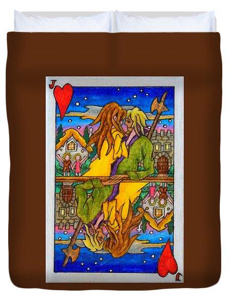 Jack Of Hearts Duvet Cover by Matt Konar