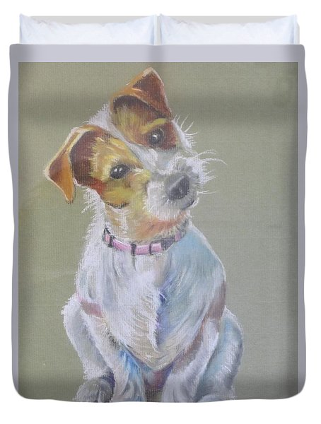 Jack Russell Watching You Duvet Cover
