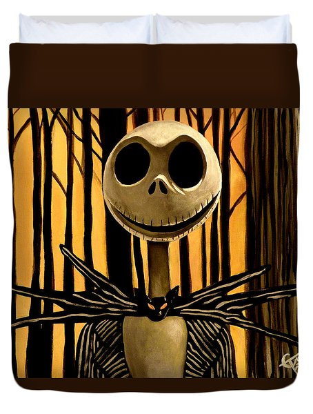 Jack Skelington Duvet Cover by Tom Carlton