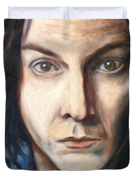 A Tribute To Jack White Duvet Cover by Jac Mason