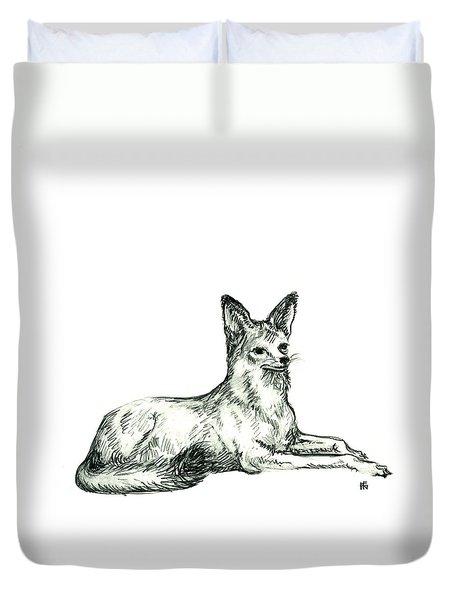 Jackal Sketch Duvet Cover
