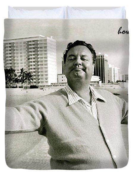 Jackie Gleason, How Sweet It Is, Miami Beach, Fl Duvet Cover