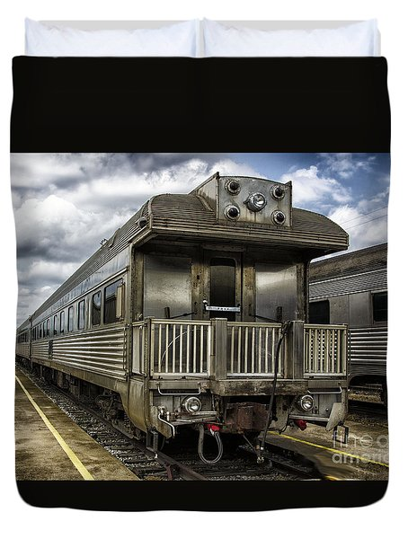 Jackie Gleasons Private Rail Car Duvet Cover