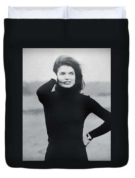 Jackie Kennedy - Painting Duvet Cover