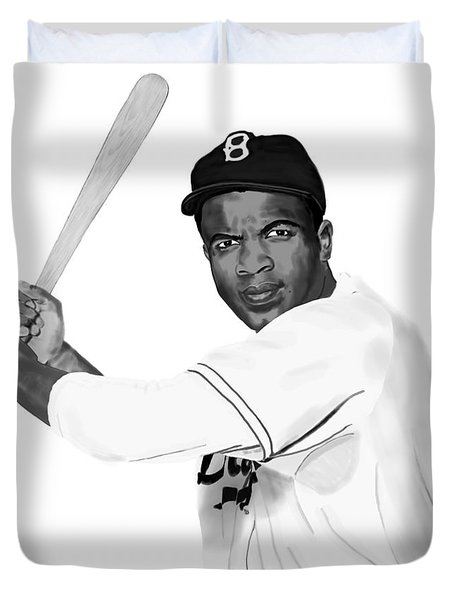 Jackie Robinson Duvet Cover