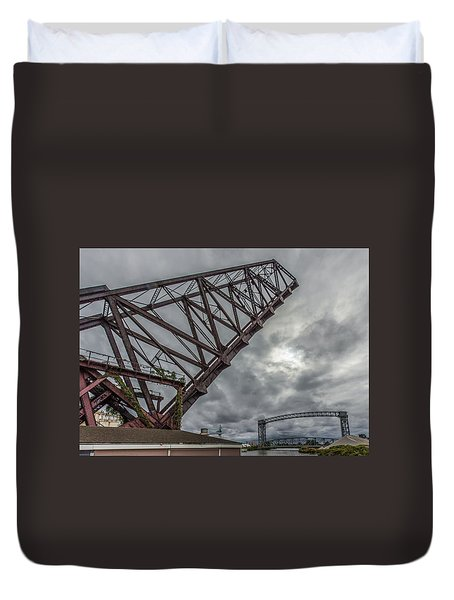 Jackknife Bridge To The Clouds Duvet Cover