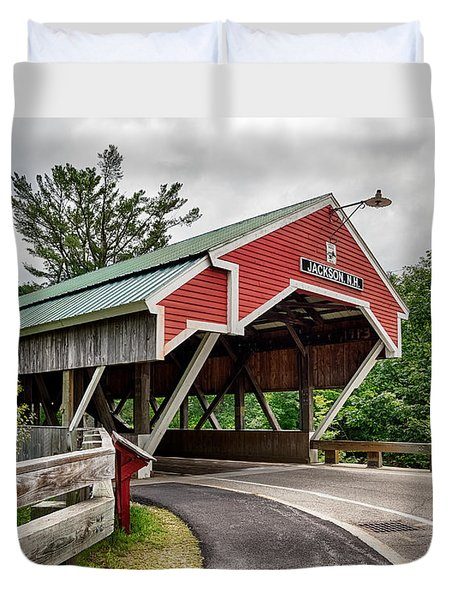 Jackson Covered Bridge Duvet Cover