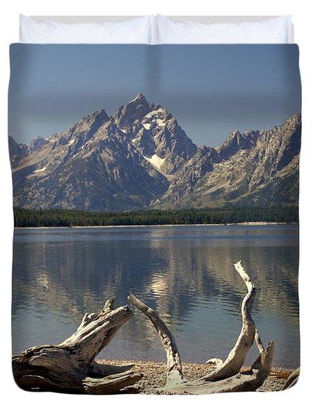 Jackson Lake 1 Duvet Cover by Marty Koch