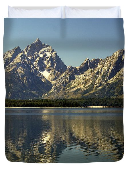 Jackson Lake 2 Duvet Cover by Marty Koch