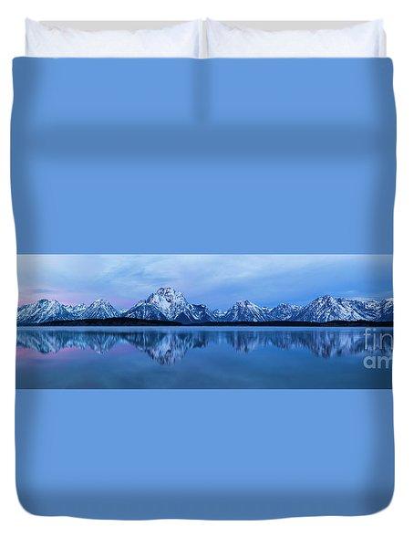 Jackson Lake Panorama Duvet Cover