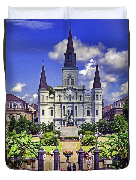 Jackson Square Duvet Cover by Dennis Cox WorldViews