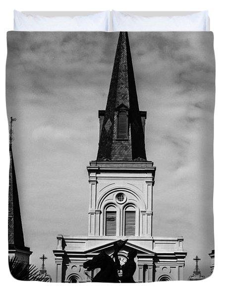 Jackson Square - Monochrome Duvet Cover