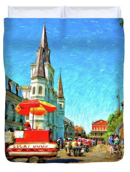 Jackson Square Oil Duvet Cover by Steve Harrington