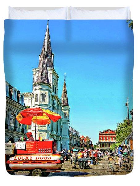 Jackson Square Duvet Cover by Steve Harrington