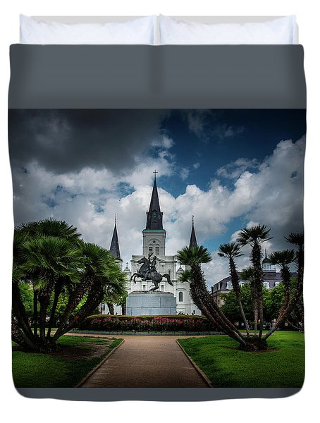 Jackson Square Sunrise Duvet Cover