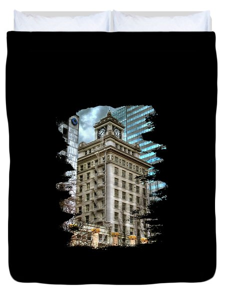 Jackson Tower Portland Oregon Duvet Cover
