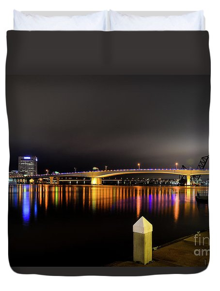 Jacksonville Night Sky Duvet Cover