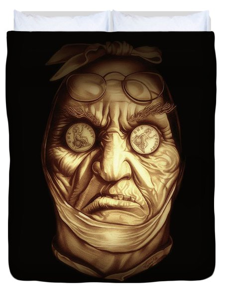Jacob Marley Duvet Cover by Fred Larucci