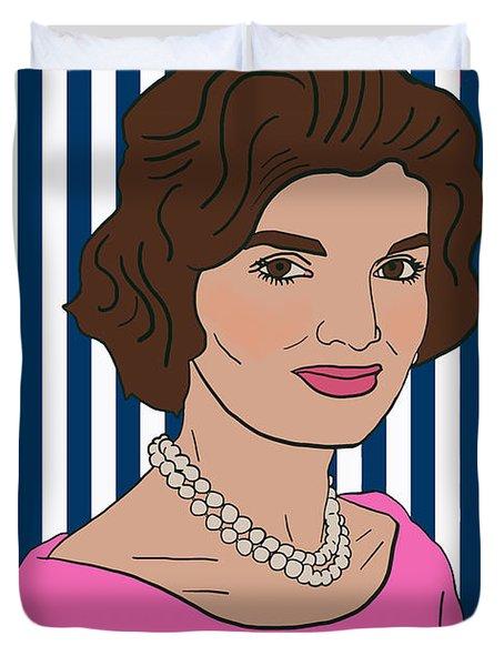 Jacqueline Kennedy Onassis Duvet Cover