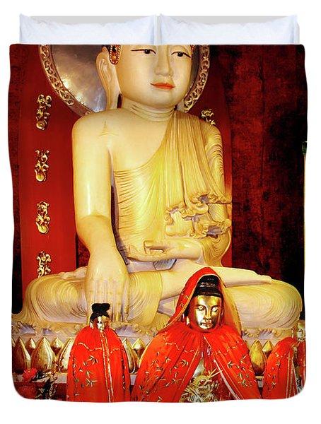 Jade Buddha Jing'an Temple Shanghai Duvet Cover by Christine Till