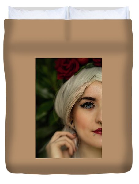 Jade Close Crop Duvet Cover