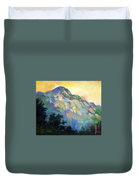 Jade Mountain Duvet Cover