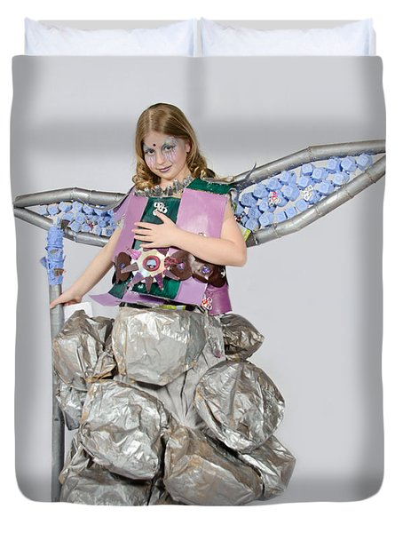 Jaeda In Techno Fairy Duvet Cover