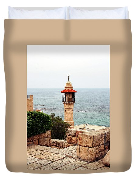 Duvet Cover featuring the photograph Jaffa Israel by Denise Moore