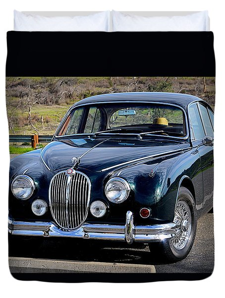 Duvet Cover featuring the photograph Jag by AJ Schibig